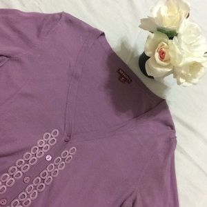 Merona 3/4 sleeve cardigan v-neck sweater.